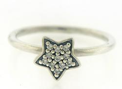 Sterling Silver Pandora CZ Ring