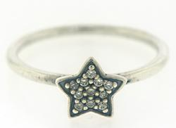Pandora Sterling Silver CZ Star Ring
