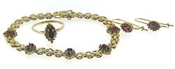Fantastic Lot of Ruby & Diamond Bracelet, Ring & Earrin