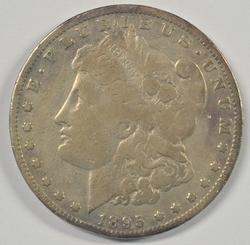 Rare key date 1895-O Morgan Silver Dollar. Circ