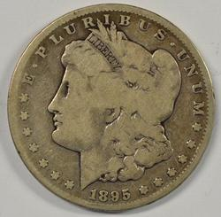 Ultra scarce 1895-S Morgan Silver Dollar. Key date