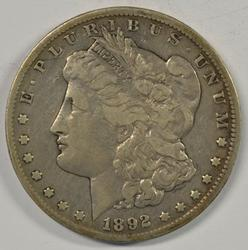 Sharp 1892-CC Morgan Silver Dollar. Key date