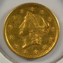 Scarce sharp 1849-O Type One $1 Gold Piece