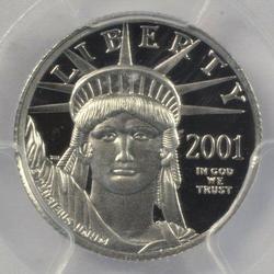 Gem Ultra Cameo Proof 2001-W $10 pure Platinum Eagle