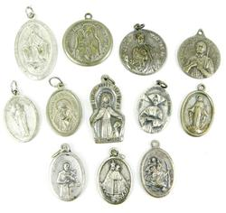 12 Vintage Religious Medals