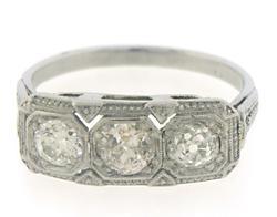 Platinum Euro Diamond Ring