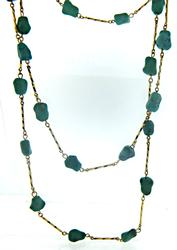 Long Turquoise Station Necklace