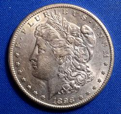 1898-S Morgan Silver Dollar, Circ