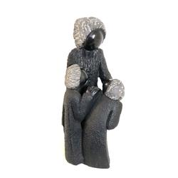 Single Mother with Two Kids Sculpture