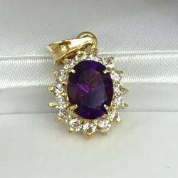 Large Amethyst Pendant in 14kt Gold