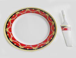 12 Inch Sorelle Paris Cake Plate With Server