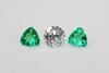 Kelly Green Natural Emerald & Diamond - Set of 3