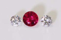 Radiant Natural Ruby & Diamond Pair