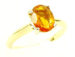 14K Fiery Orange Garnet Ring, 4.75