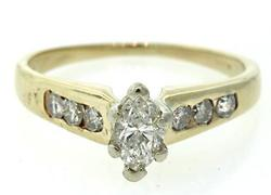 Marquise & Round Diamond Ring