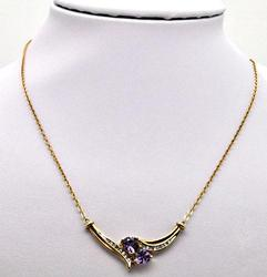 10KT Amethyst and Diamond Necklace