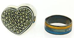 lot of 2 Vintage Sterling Silver rings