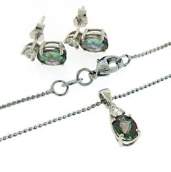 Set of Mistuc Topaz Necklace and Earrings