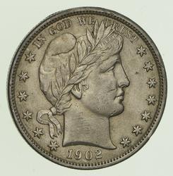 1902 Barber Half Dollar - Circulated