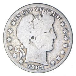 1897-O Barber Head Silver Half Dollar - Circulated