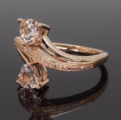 Heart Shaped Morganite Ring in Rose Gold
