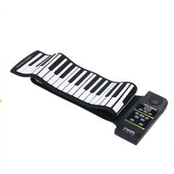 Electronic Piano Keyboard Silicon Flexible Roll Up