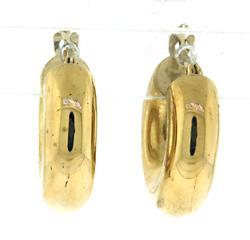 18kt Thick Tube Huggie Earrings