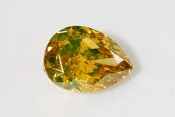 Brilliant Natural Orange Diamond - 0.44 cts.