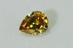 Exciting Natural Cognac Diamond Pear - 0.26 ct.