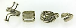 Lot of 4 Vintage Sterling Silver Rings
