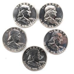 1956 1959  1960-62 Proof Franklin Halves