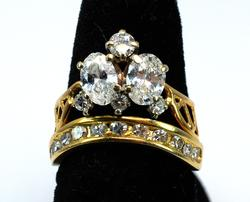 Most Unique 1.63CTW Diamond Ring, 14KT Yellow Gold