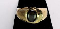 Yellow Gold Ring with Brown Agate