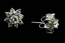 Incredible 0.75CTW Diamond Studs with Diamond Enhancers, 14KT