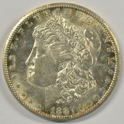 Key date original Choice BU 1887-S Morgan Silver Dollar