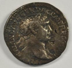 Scarce Roman Silver Denarius of Trajan, 98-117 AD