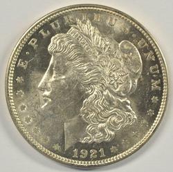 Prooflike BU 1921 Morgan Silver Dollar. Flashy