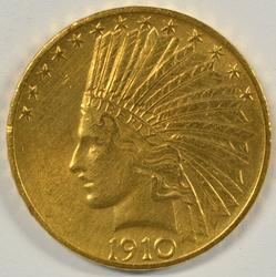 Real flashy 1910 US $10 Indian Gold Piece