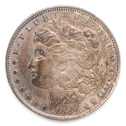 1886 O Toned Near Unc Morgan Dollar