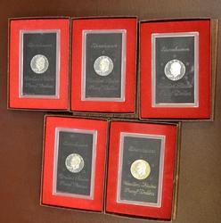Proof Silver Ike Lot, 4 x 71, 1 x 73