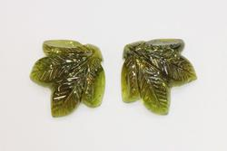 Engaging Hand-carved Tourmaline Pair -