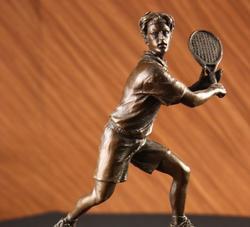 Tennis Player Bronze Sculpture