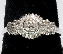 Vintage Diamond Ring in 14KT White Gold