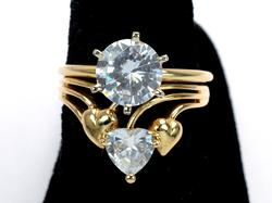Statement Piece with CZ in 14KT Yellow Gold