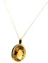 Amazing Oval Citrine Pendant Necklace