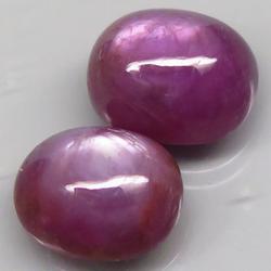 Heavy 9.77ct unheated pair of Rubies