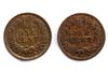 1893 And 1899 Shattered Die Near Unc Indian Head Cents