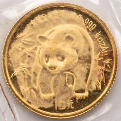 1986 1/10 Oz Gold  Panda  Mint Sealed Cameo Unc