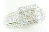 White Gold Diamond Encrusted Wide Halo Ring
