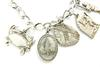 Vintage Sterling Maryland State Charm Bracelet, 12 Charms